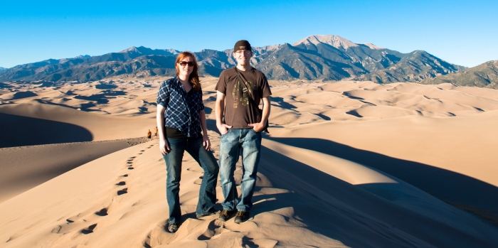 My brother and I at the Great Sand Dunes, Colorado