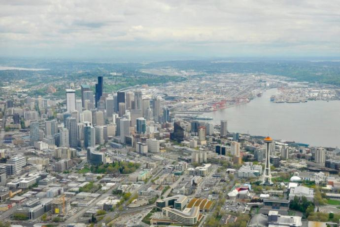 Over Seattle
