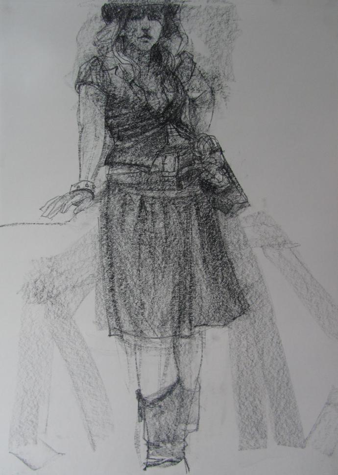 Posing for Trish Harding